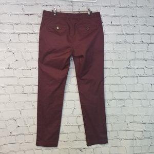 Ted Baker London maroon chino pants 32